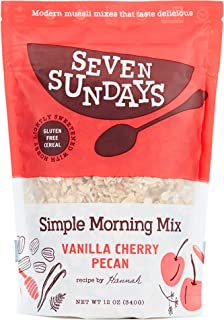product image for Seven Sundays Simple Morning Vanilla Cherry Muesli Cereal {12 oz. pouch, 1 Count} | Gluten Free Certified | Non GMO | No Refined Sugar | Kosher
