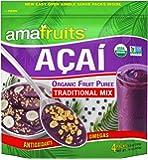 Amafruits Acai Traditional Mix with Guarana Smoothie Packs