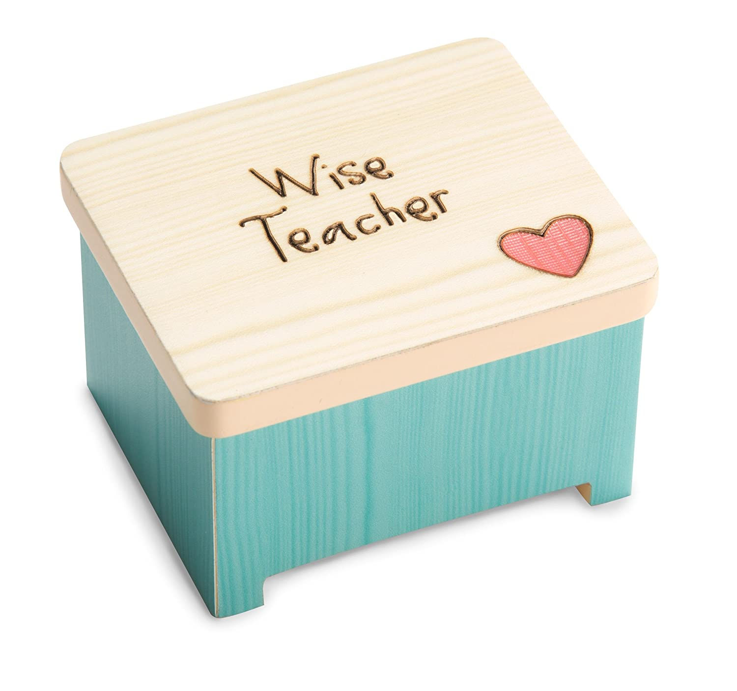 Pavilion Gift Company 78041 Wise Teacher Keepsake Box 2-3//8 by 1-1//2 by 2 2-3//8 by 1-1//2 by 2