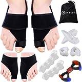 Bunion Corrector & Relief Kit, Orthopedic Bunion Splint, Bunion Sleeves for Hallux Valgus, Toe Separators Spacers…