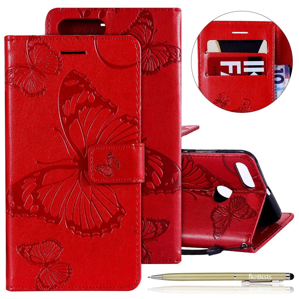 Herbests Coque Xiaomi 5X Housse en Cuir Etui avec Motif Coque à Rabat Magnétique Ultra Mince Anti Choc Porte-Cartes,#134 HER0012070