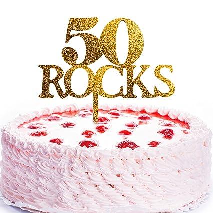jennygems torta de cumpleaños Topper 50 Rocas – 50th ...