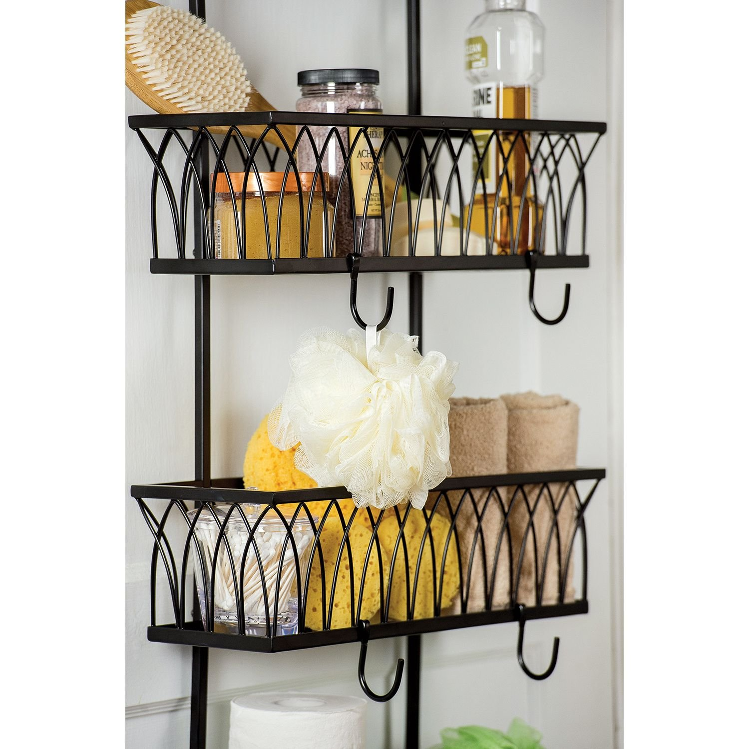 Arch Over The Door 3 Basket Organizer by Giftburg Amazon Home