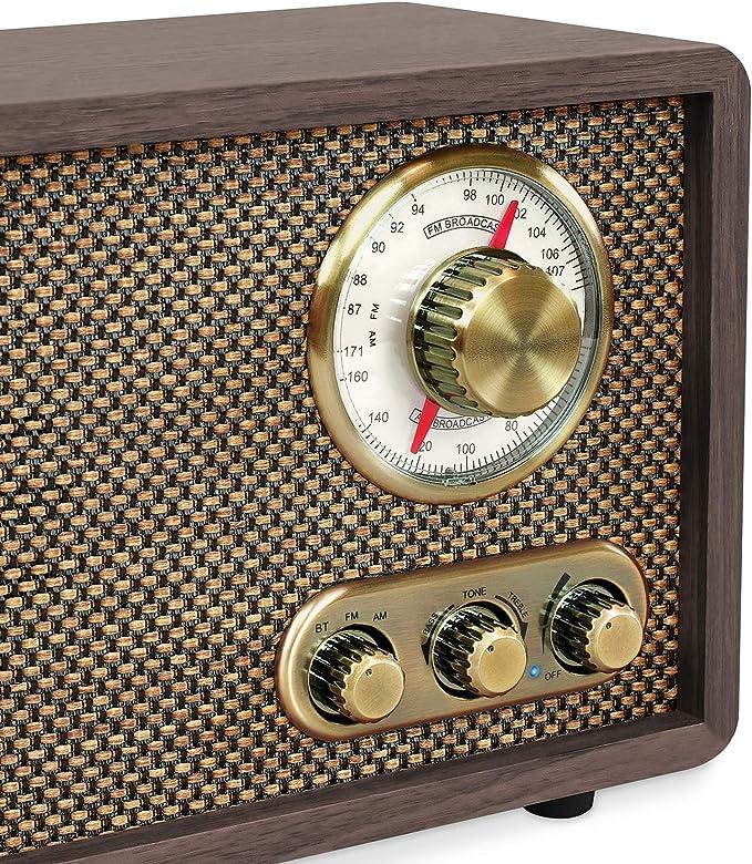 Amazon.com: Victrola - Radio FM/AM con Bluetooth, esfera ...