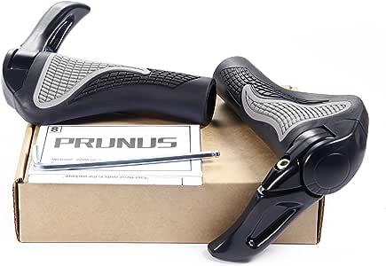 Puños PRUNUS™ para manillar de bicicleta diseño ergonómico caucho bici de montaña MTB o BMX, negro: Amazon.es: Deportes y aire libre