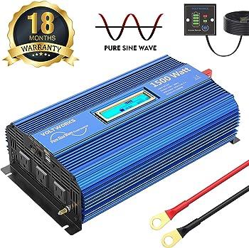 VOLTWORKS 1500W Pure Sine Wave Power Inverter