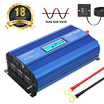 VOLTWORKS 1500W Pure Sine Wave Power Inverter