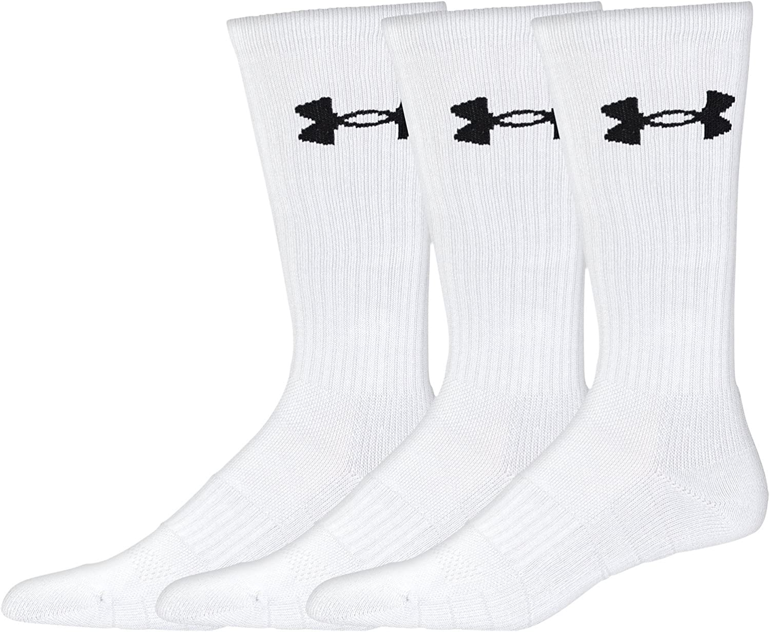 Under Armour Adult Elevated Performance Crew Socks, 3-Pairs : Clothing