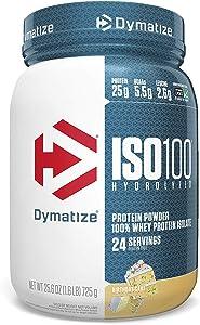 Dymatize ISO 100 Whey Protein Powder with 25g of Hydrolyzed 100% Whey Isolate, Gluten Free, Fast Digesting, Birthday Cake, 1.6 Pound