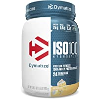Dymatize ISO 100 Whey Protein Powder with 25g of Hydrolyzed 100% Whey Isolate, Gluten Free, Fast Digesting, Birthday…