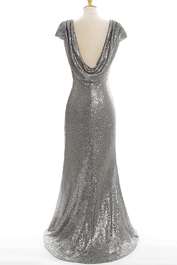 Babyonlinedress Vestido de novia largo y ajustado vestido de nohce de ceremonia de graduación de espectáculo talla 44: Amazon.es: Ropa y accesorios