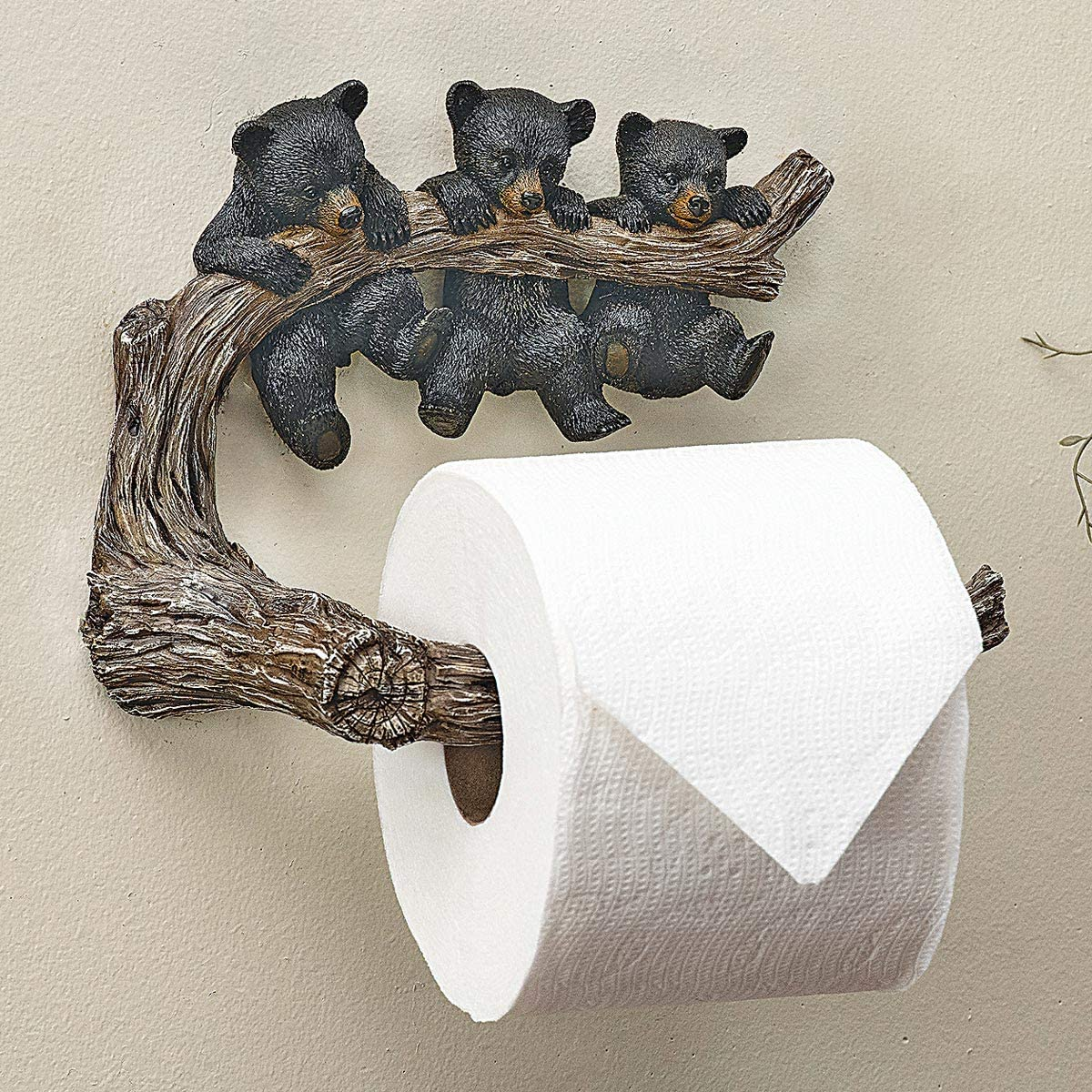 BLACK FOREST DECOR Bear Necessities Toilet Paper Holder