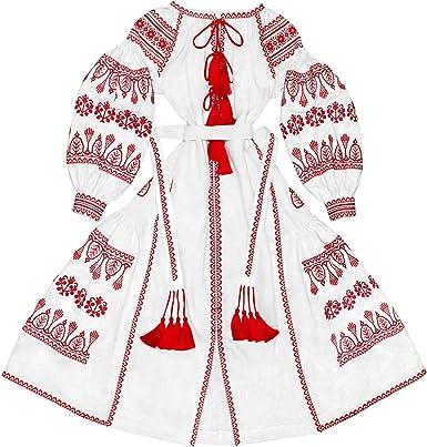 Caftan Abaya Robe Fashion Summer Boho Chic Dress Ukrainian Folk Ethnic Long Dress Vyshyvanka White Linen Dress With Floral Embroidery