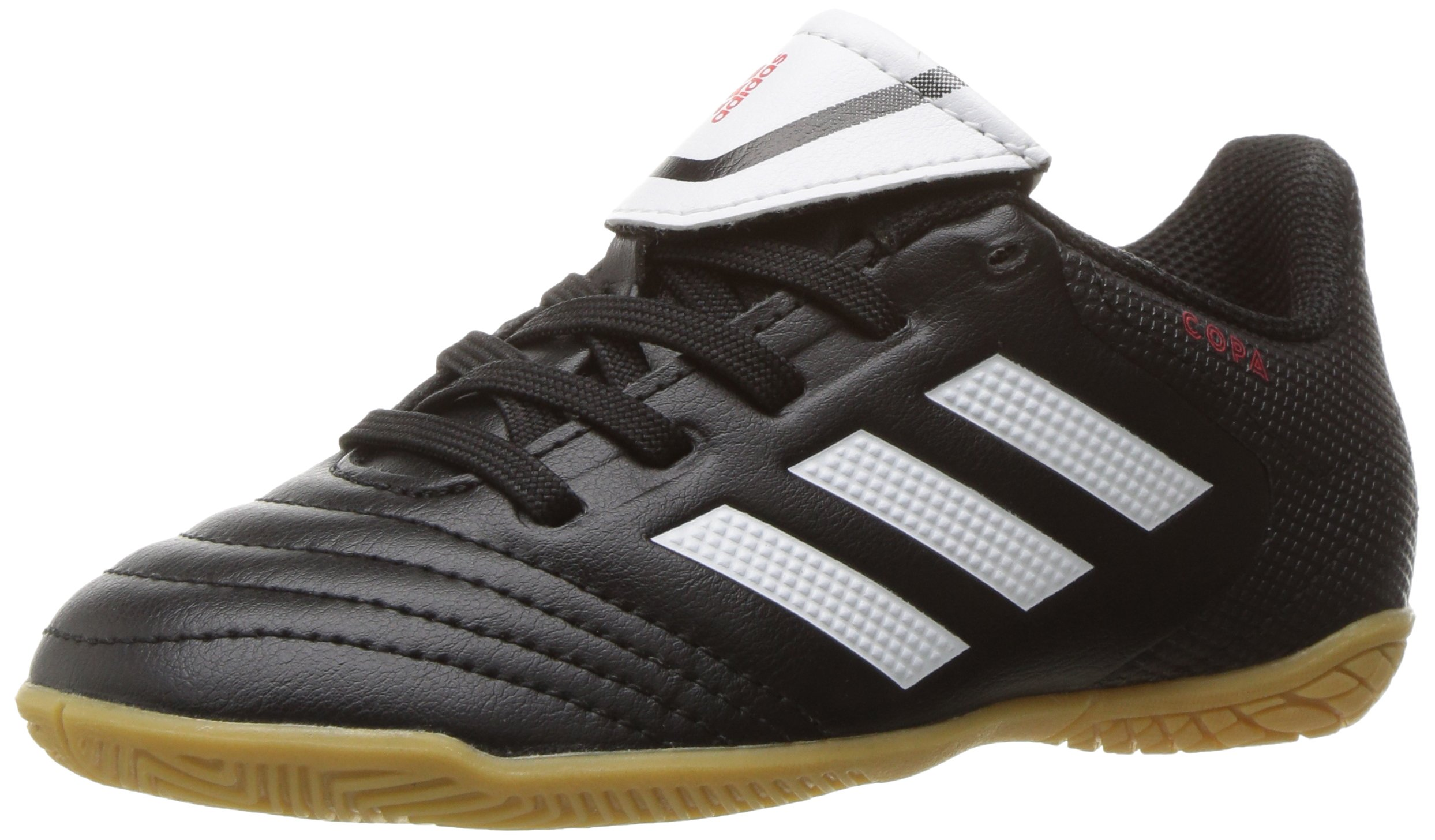 adidas Boys' COPA 17.4 in J Skate Shoe, White/Black, 5 M US Big Kid
