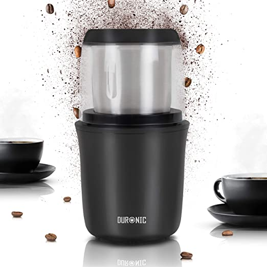 Duronic CG250 Molinillo de Café Eléctrico 250W de Potencia y 75 g ...