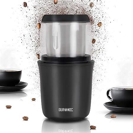Duronic CG250 Molinillo de Café Eléctrico con Cuchilla de Acero Inoxidable, Café, Especias, Granos, Semillas, Frutos Secos, Hierbas, Otros Alimentos ...