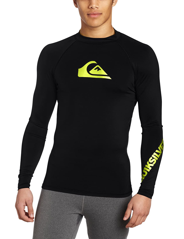 051a0cc2979e4d Amazon.com  Quiksilver All Time Long Sleeve Rashguard Swim Shirt UPF 50+   Clothing