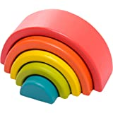 Large Wooden Rainbow Block set - 5 nesting blocks