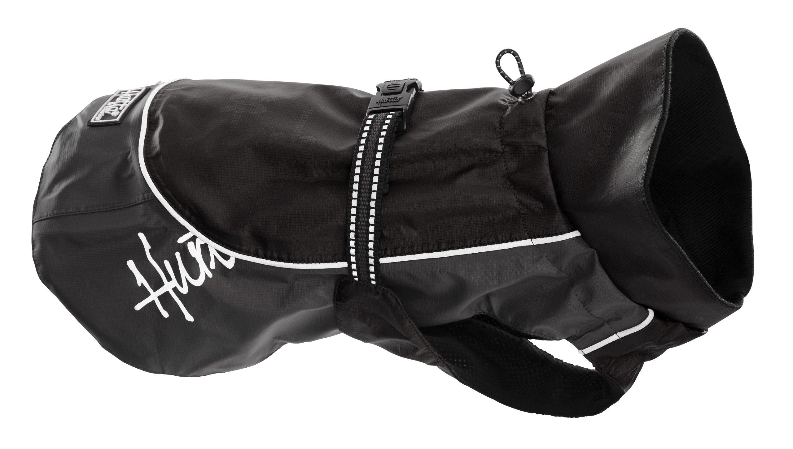 Hurtta Pet Collection 16-Inch Raincoat, Black