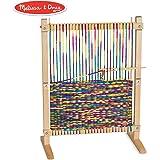 Melissa & Doug 木制玩具多工艺编织机:超大型框架(22.75 x 16.5英寸)(约58cmx52cm)