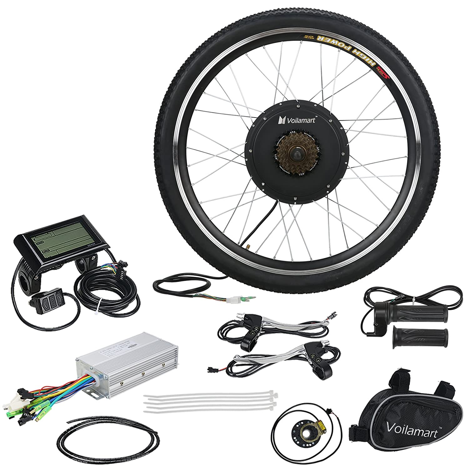 Voilamart 48v 1000w Electric Bicycle Conversion Kit 26 Rear Wheel Go Back Gt Gallery For Brushless Motor Diagram E Bike With Lcd Display And Intelligent Controller Car Motorbike