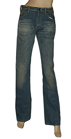 df617f2ccda Armani Jeans Vintage Look Womens Straight Leg Colour Denim Size 29 UK 10   Amazon.co.uk  Clothing