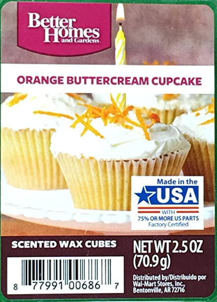 excellent better homes and gardens scented wax cubes. 1 X Better Homes and Gardens Orange Buttercream Cupcake Wax Cubes Amazon com