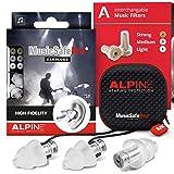 Alpine MusicSafe Pro High Fidelity Music Earplugs for Concert & Noise Reduction, 3 Interchangeable Premium Filter Sets - Prof