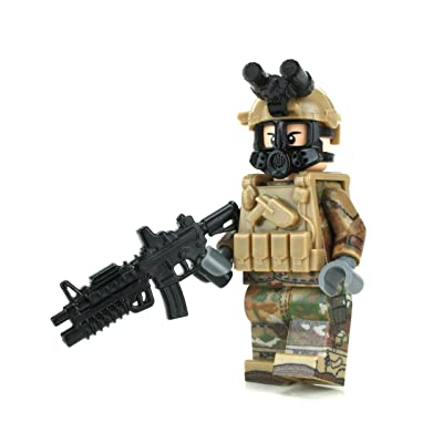 Battle Brick Army OCP Chemical Warfare Custom Minifigure: Toys & Games