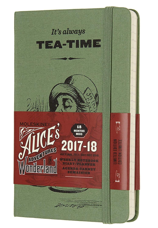 Moleskine Limited Edition Alice in Wonderland, 18 Month Weekly Planner, Pocket, W Green (3.5 x 5.5)