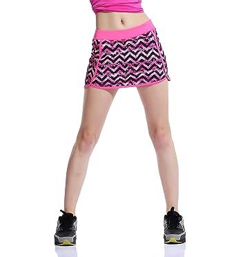 Honoursport Falda de Tenis Skort Golf Mujer Negra Pantalón Ropa Padel Running Corta Moda Deportivas Short