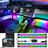 Govee RGBIC Interior Car Lights with Smart App Control, 2 Lines Design LED Car Lights, Music Sync Mode, DIY Mode, and…