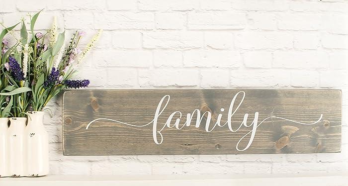 Amazon.com: Grey Family Wooden Sign - Rustic Handmade Farmhouse Wood ...