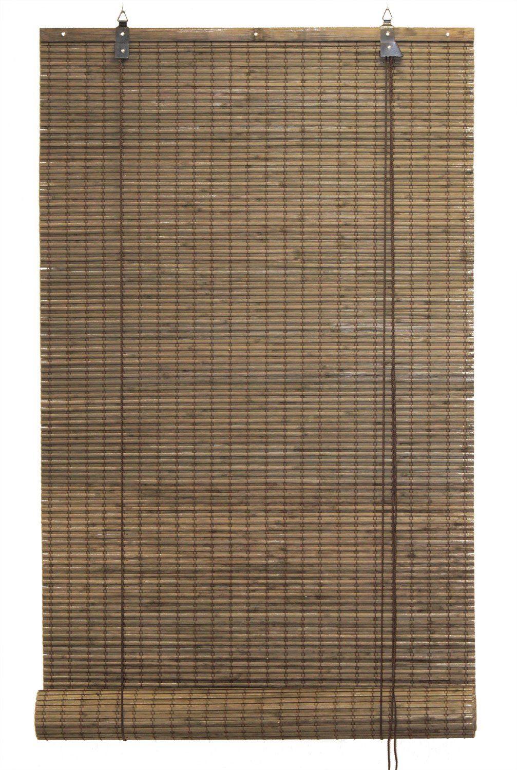Bamboo Flat-weave Sun-filtering Roll Up Blind (24x66 Inch, Amber Honey) Seta Direct BB6810