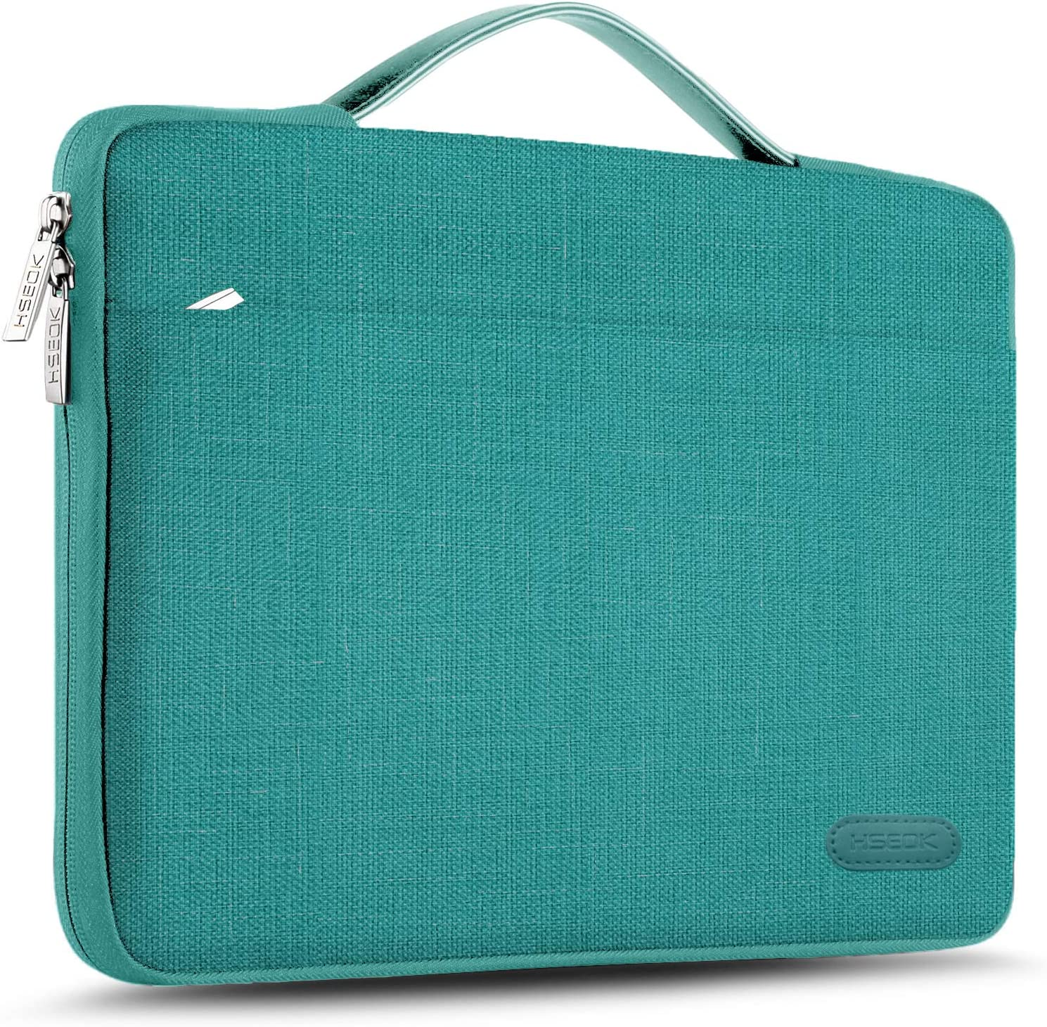 """Hseok Laptop Sleeve 13-13.5 Inch Case Briefcase, Compatible All Model of 13.3 Inch MacBook Air/Pro, XPS 13, Surface Book 13.5"""" Spill-Resistant Handbag for Most Popular 13""""-13.5"""" Notebooks, Linen Blue"""