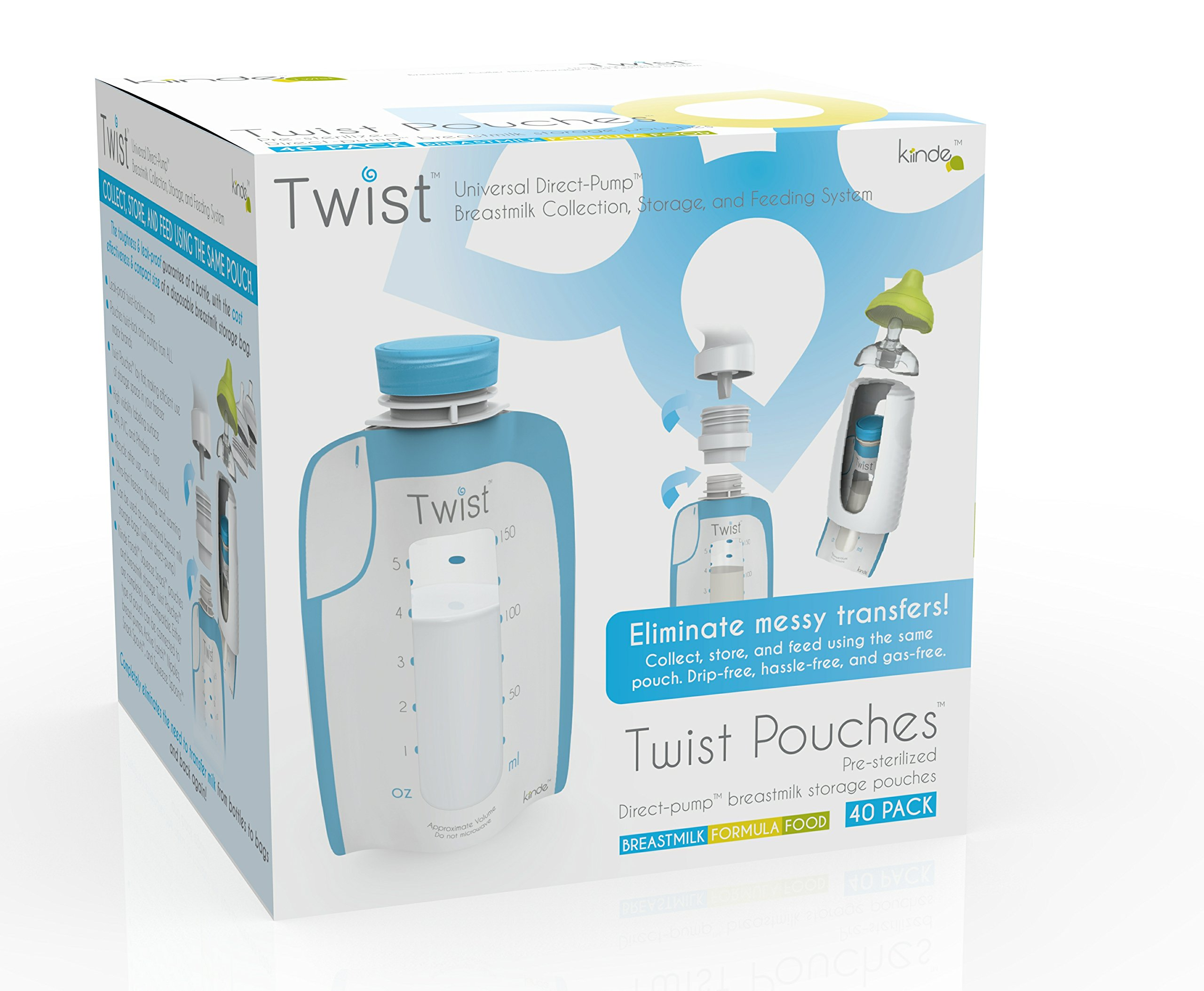 Kiinde Twist Pouch Breast Milk Storage Bags for Pumping, Freezing, and Feeding by Kiinde (Image #5)