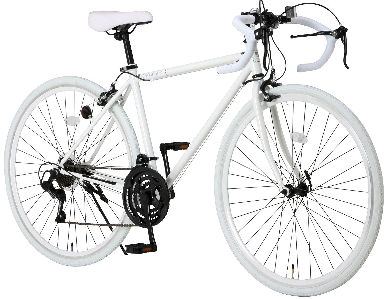 Grandir(グランディール) ロードバイク 700C シマノ21段変速[サムシフター] 2WAYブレーキシステム搭載 Grandir Sensitive [フレームサイズ520:ブラック/フレームサイズ470:ホワイト] フレームサイズ470:ホワイト  B00HE5M2T6