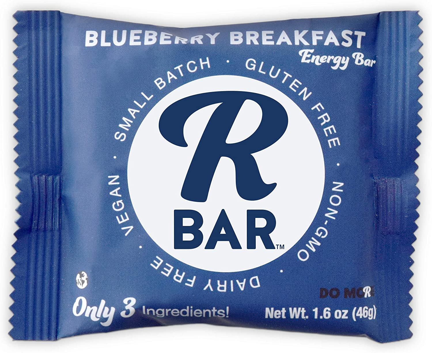 RBar Blueberry Breakfast Energy Bars – Plant Based Whole Food Snack Bars – Just 3 Ingredients, Gluten & Dairy Free Natural Nutrition & Travel Food for Men & Women, Adults & Toddlers (1.6 oz 10 Count)