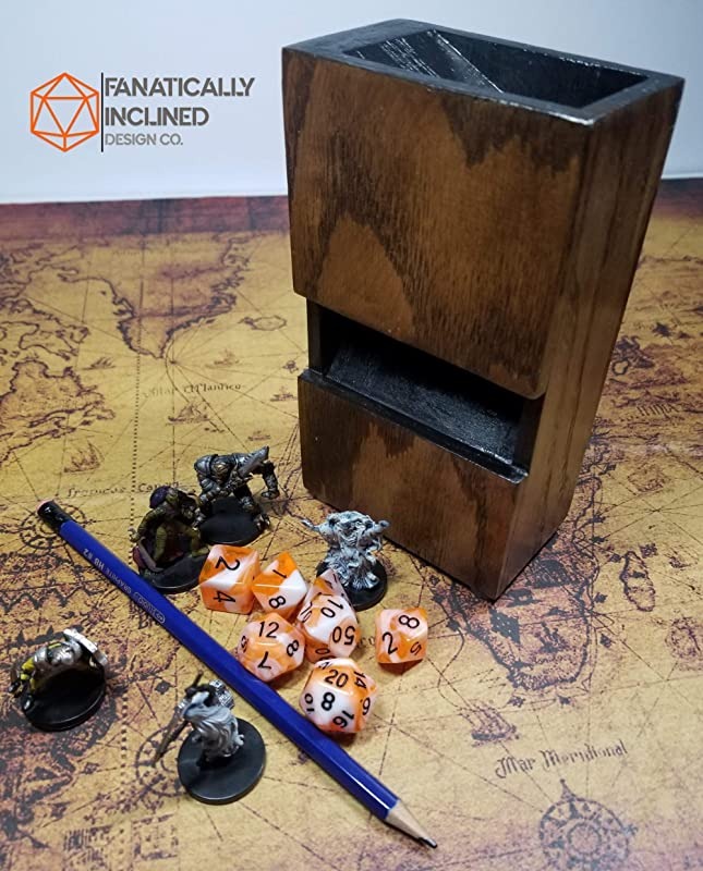 Warhammer Lionheart/'s Modular Dice Tower With Dice and Miniature Storage Boxes for Dungeons /& Dragons Pathfinder and other Tabletop Games