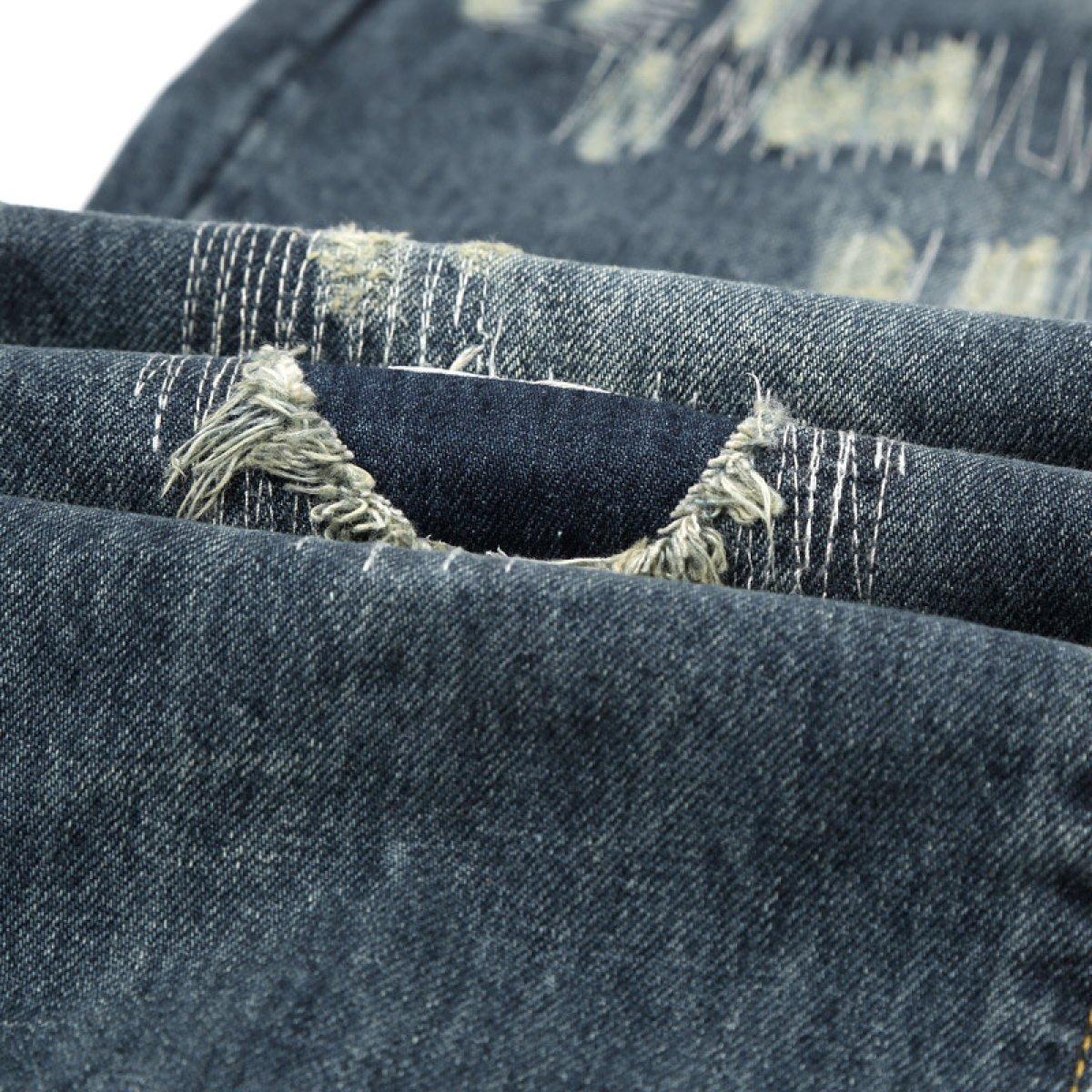 20edf059871d CHFYI Männer Mittlere Taille Gerade Retro Zerrissene Jeans  Amazon.de   Bekleidung