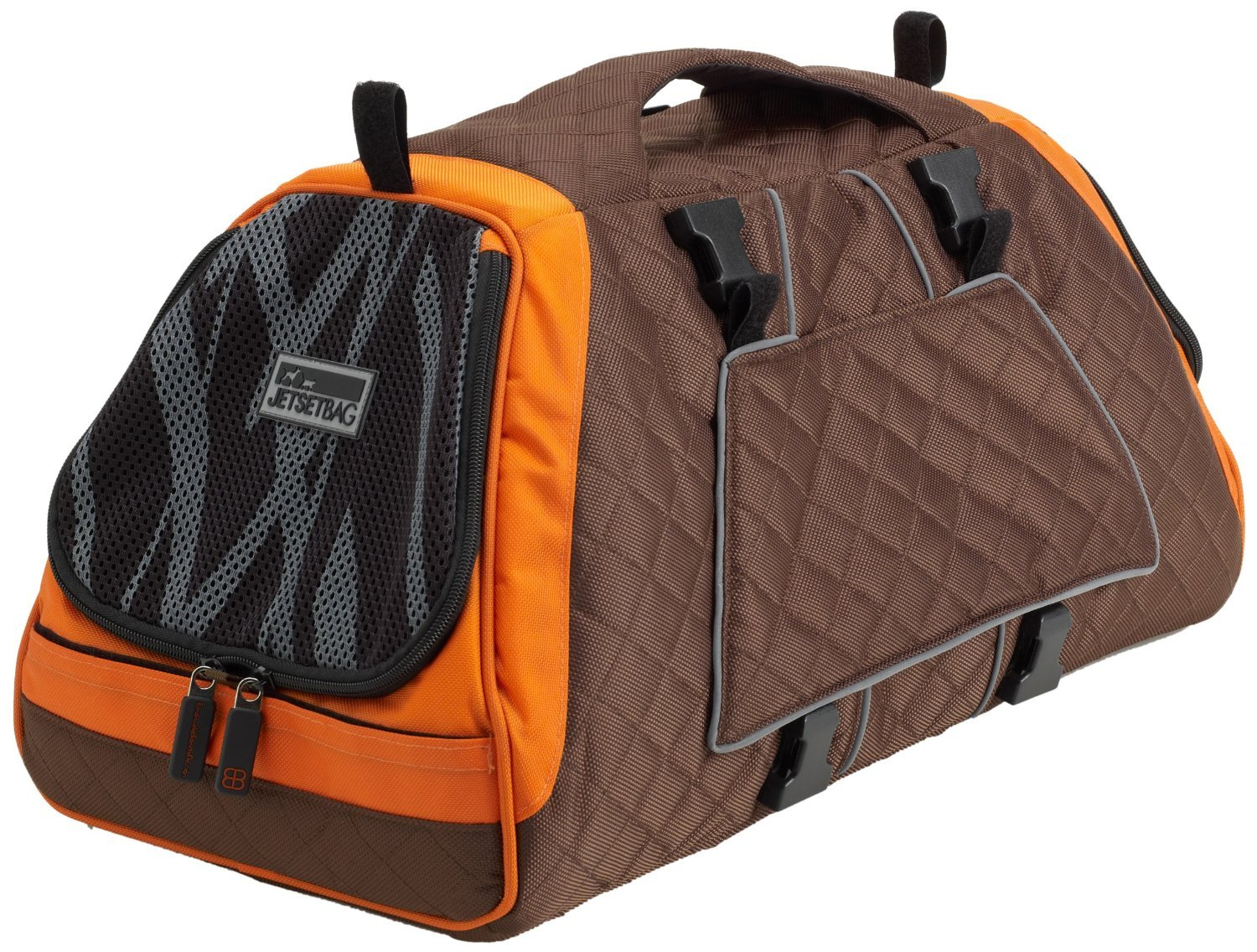 Petego Jet Set Pet Carrier with Forma Frame, Large, Orange and Brown