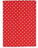 Torchon métis imprimé, lin&coton, TRIOLINO®, motif petit points, rouge, 50x70 cm