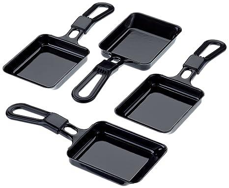 Steba 990100 - Juego de sartenes para raclette, 4 unidades