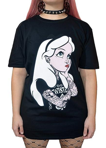 Gothic Disney In Alice T Emo Shirt Wonderland Rockabilly Punk Tattoo lTFc13KJu