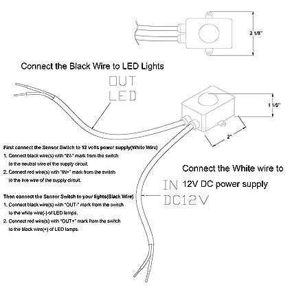 81t3L20w3QL._SX425_ amazon com facon 12v dc pir motion sensor on off switch use with