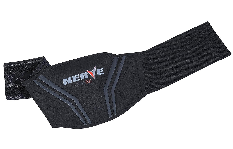 Nerve Push Cintur/ón de Soporte Lumbar para Moto XL Negro