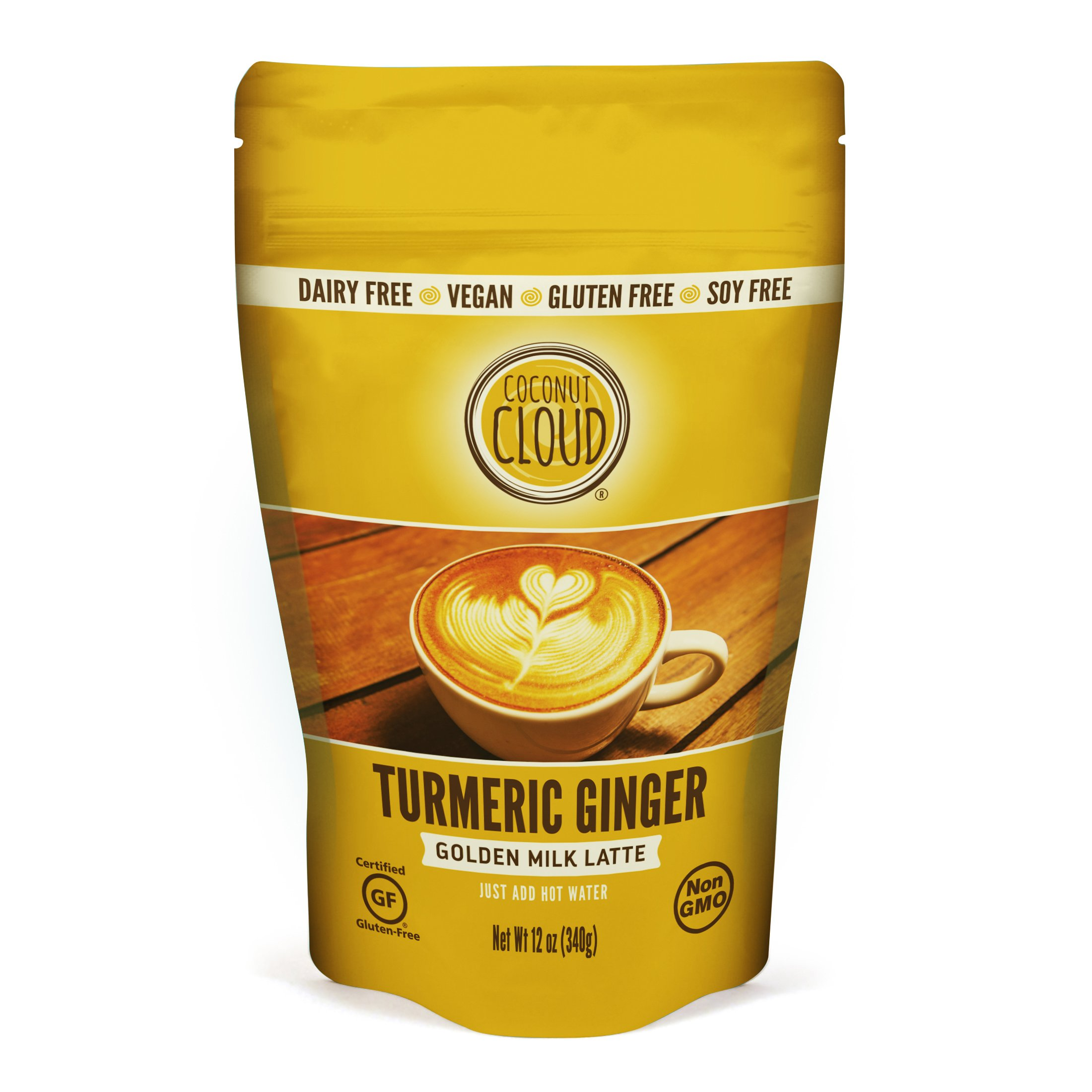 Coconut Cloud: Vegan Turmeric Ginger Golden Milk Latte | Delicious & Creamy Coconut Milk Powder. Dairy & Soy Free, GF, Non-GMO (Just add hot water, 21 Servings! Use in smoothies & recipes too), 12 oz