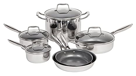 Amazon.com: Maker hogar 10 piezas de acero inoxidable ...