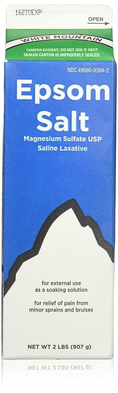 White Mountain Epsom Salt 2 Lb Containers (Pack of 3) Epsom Salt Plus Inc.