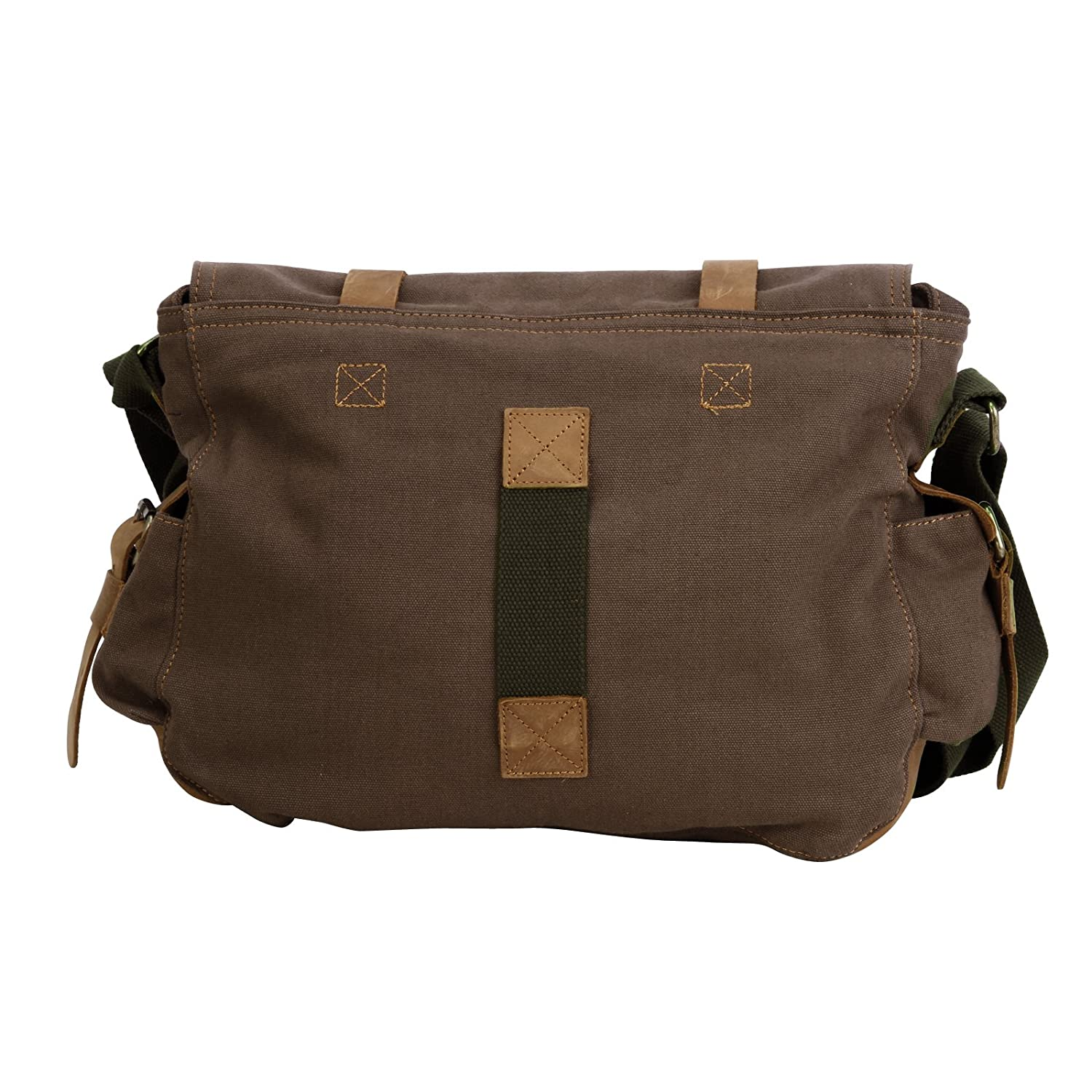 a34a391318b Amazon.com  Men s Vintage Canvas Leather Satchel School Army Shoulder Bag  Messenger Bag  Computers   Accessories